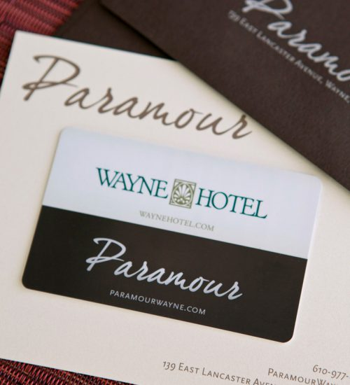 Wayne Hotel & Paramour Gifts Cards