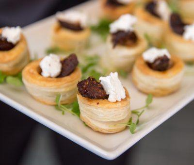 Caramelized Onion & Poached Fig with Goat Cheese Pissaladière