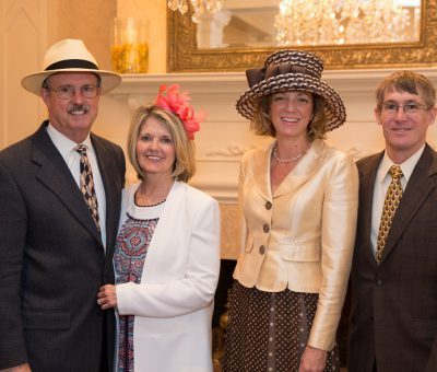 Steve & Kathy Bajus (Wayne Hotel and Paramour Owner), Meg (Director of Radnor Educational Foundation) & Steve Haist