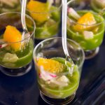Bass Ceviche with Cucumber Agua Chile & Dill