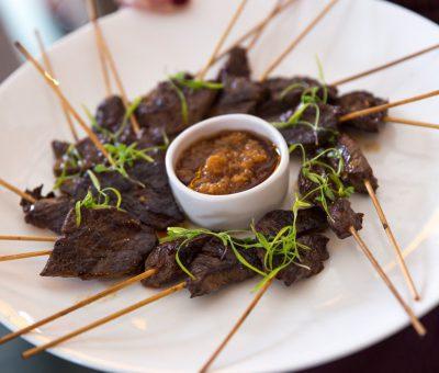 Hanger Steak Satay & Ginger Sauce