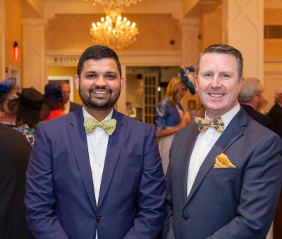Sachin Siwach (Main Line Hotels Director of F&B Operations), David Brennan (Wayne Hotel General Manager)