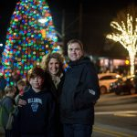 Families gathered in Wayne for the Tree Lighting Ceremony