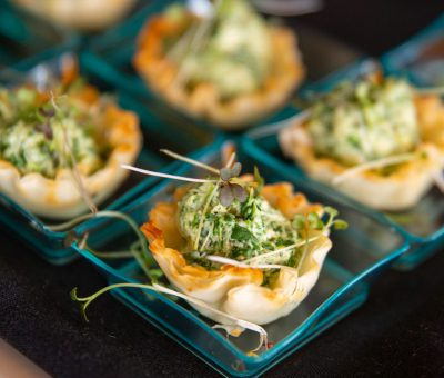 Spinach & Crab Dip Canapé in Phyllo Shell