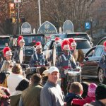 Valley Forge Military Academy Field Music Group joined Santa in a lively parade