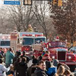 Santa returned with the Radnor Fire Company to greet the crowd