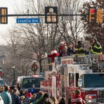 Santa returned on the Fire Truck to greet the crowd