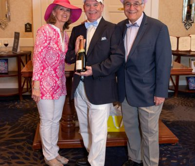 Men's Best Dressed 2nd Place Winner Don Hughes with Kathy Bajus and Bob Madonna