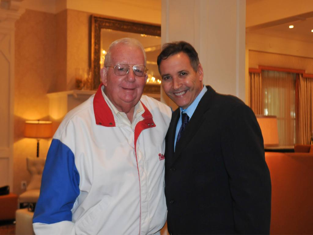 Bill Giles of the Philadelphia Phillies and Joseph Amrani, General Manager at Paramour