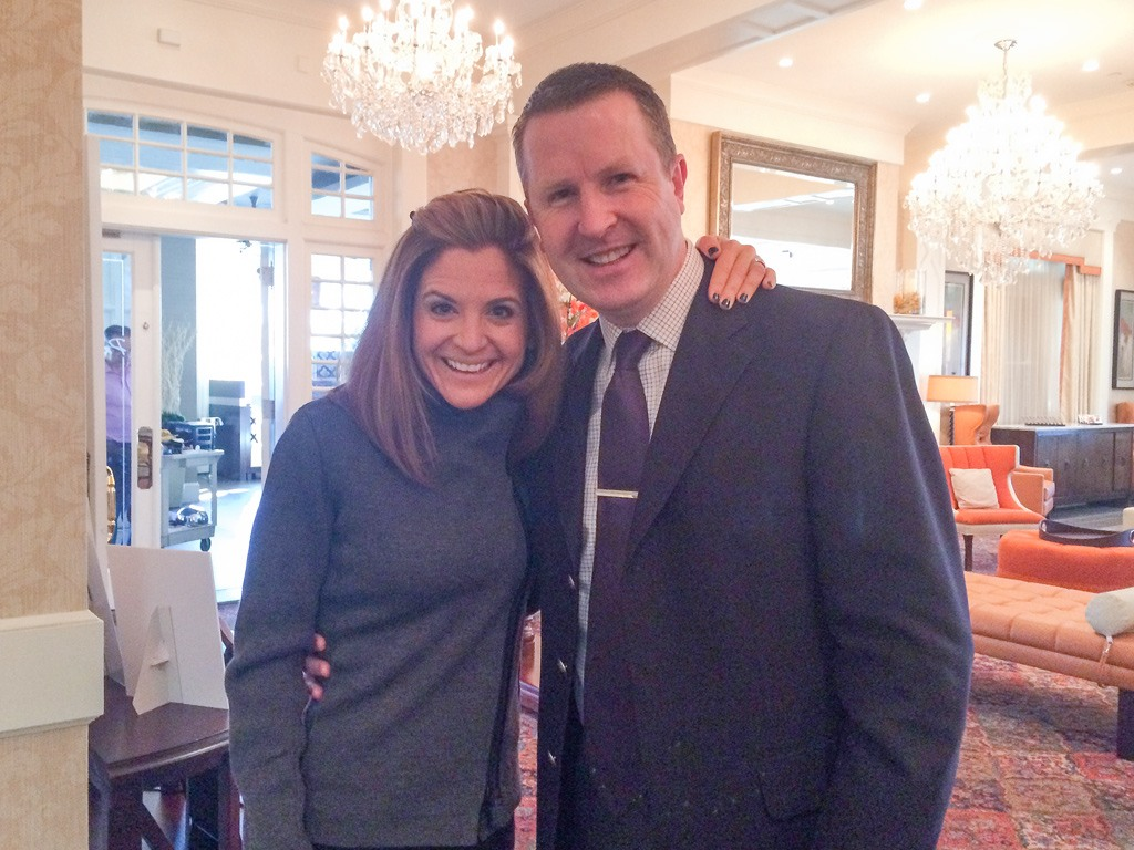Glennon Doyle Melton, New York Times bestselling author and founder of Momastery, with David Brennan, General Manager of the Wayne Hotel