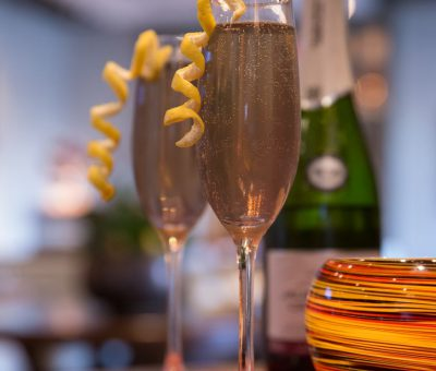 Start off your evening with a complimentary champagne toast