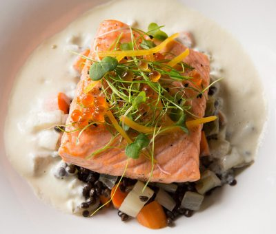 Slow-Roasted North Atlantic Salmon