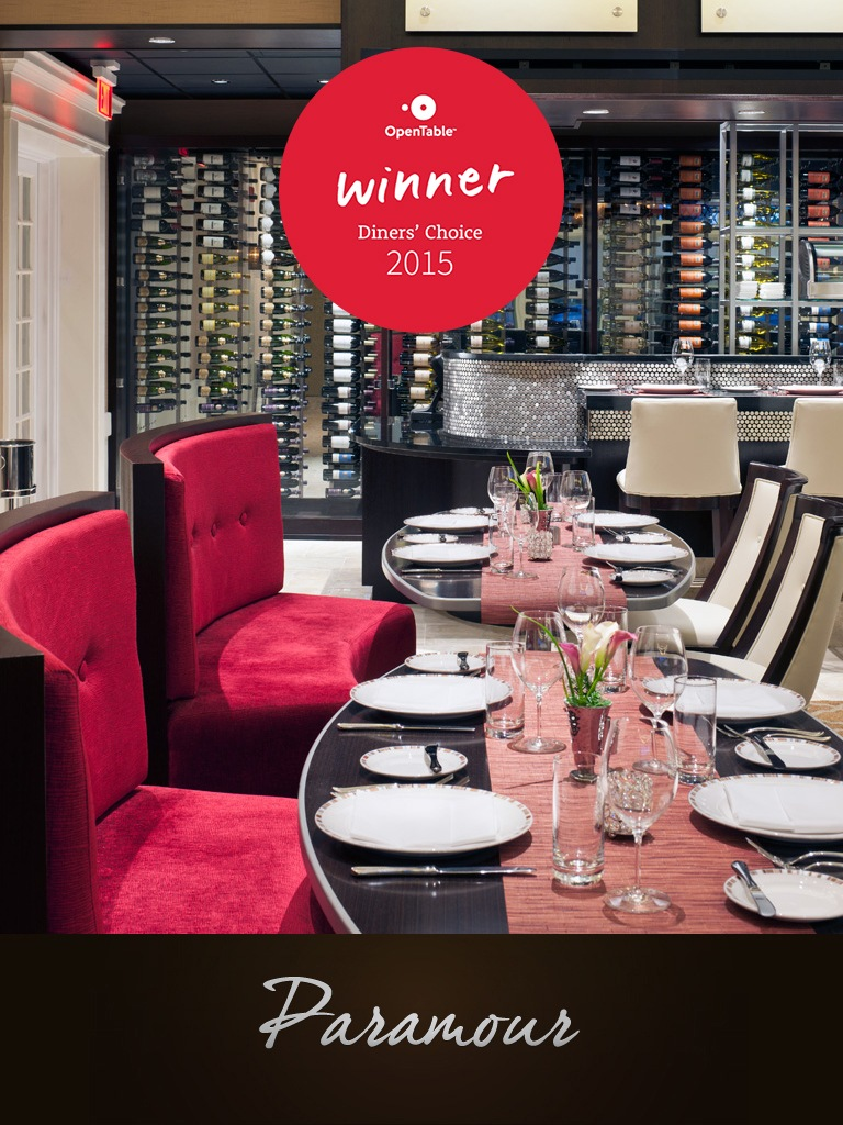 OpenTable Diners' Choice Winner - Romantic