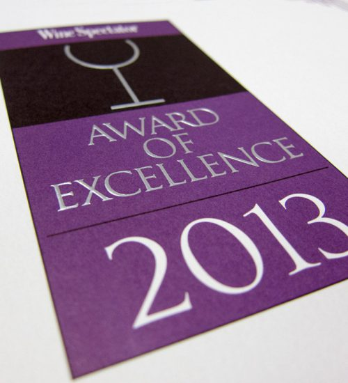 Paramour awarded Wine Spectator Award of Excellence 2013 Paramour