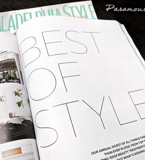 Philadelphia Style Magazine's Best Of Style 2018