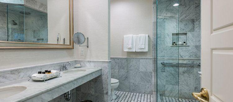 Premier Suite Bathroom at the Wayne Hotel