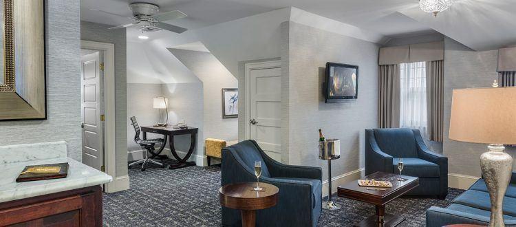 Lengel Suite Living Room at the Wayne Hotel